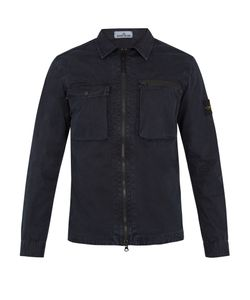 Stone Island | Point-Collar Cotton-Gabardine Overshirt