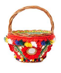 Dolce & Gabbana | Agnese Pompom-Embellished Basket Bag