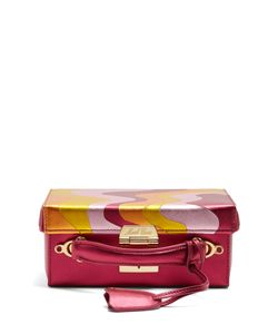 Mark Cross | Grace Small Saffiano-Leather Box Bag