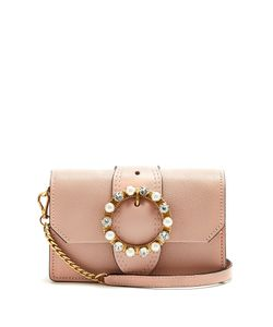 Miu Miu | Crystal-Embellished Leather Cross-Body Bag