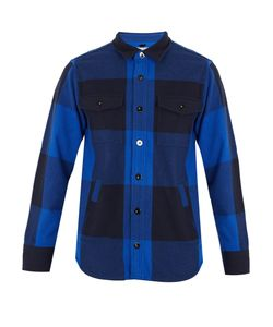 Maison Kitsune | Checked Wool-Blend Shirt