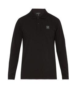 Belstaff | Selbourne Long-Sleeved Cotton-Piqué Polo Shirt