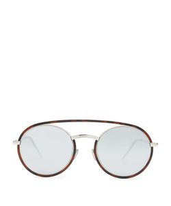 DIOR HOMME SUNGLASSES | Synthesis 01 Round-Frame Mirrored Sunglasses