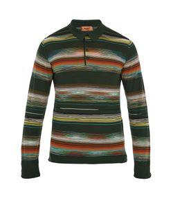 Missoni | Striped Wool-Blend Polo Shirt