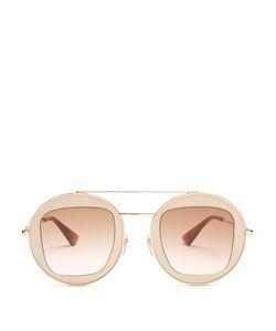 Gucci | Round-Frame Aviator Sunglasses