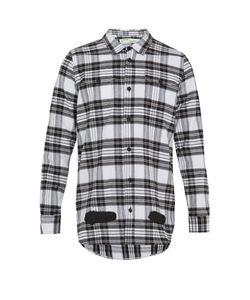 OFF-WHITE | Logo-Print Checked Cotton Shirt