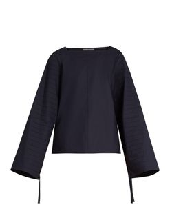 Tibi | Pintuck-Pleated Cotton-Poplin Top