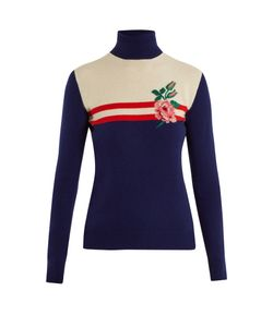 Gucci | Rose-Intarsia Wool-Blend Sweater