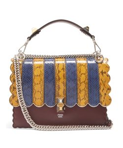 Fendi | Kan I Snakeskin And Leather Shoulder Bag