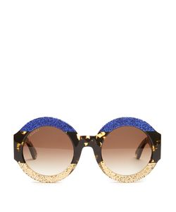 Gucci | Tri-Colour Round-Frame Sunglasses