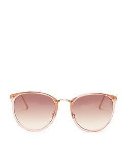 Linda Farrow | Round Acetate Sunglasses