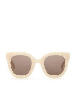 Gucci | Oversized Embellished Acetate Sunglasses
