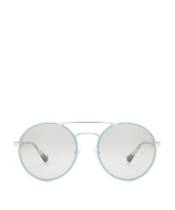 Prada | Round-Frame Mirrored Sunglasses