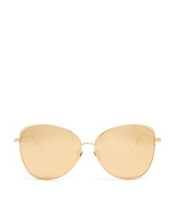 Linda Farrow | Cat-Eye Plated Sunglasses