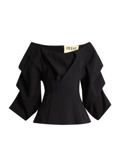 A.W.A.K.E. | Madame Jellyfish Ruched-Sleeve Top