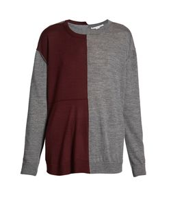 Stella Mccartney | Bi-Colour Long-Sleeved Wool-Blend Sweater