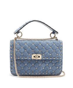 Valentino | Rockstud Spike Medium Quilted-Suede Shoulder Bag