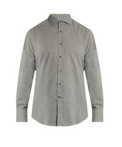 Brunello Cucinelli | French-Collar Cotton Shirt