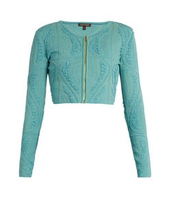 Sophie Theallet | Atoll Technical Silk-Blend Cropped Cardigan