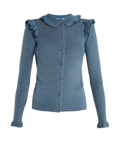 Sonia Rykiel | Striped Ribbed Cotton-Blend Cardigan