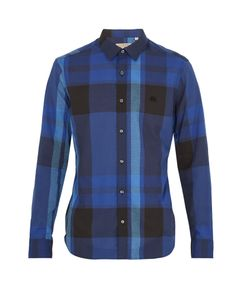 Burberry | Coatson Logo-Embroidered Checked Cotton Shirt