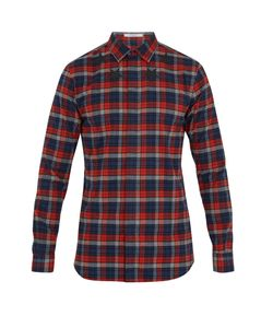 Givenchy | Contemporary-Fit Checked Cotton-Flannel Shirt