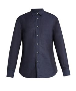 Brioni | Loose-Fit Linen And Cotton-Blend Shirt