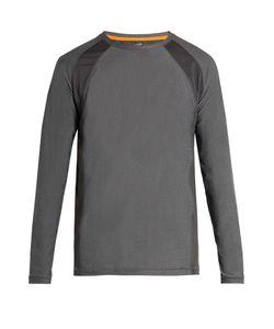 CASALL   Mix Mesh Long-Sleeved Performance T-Shirt