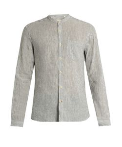 Oliver Spencer | Granddad-Collar Linen-Blend Shirt
