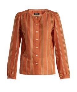 A.P.C. | Lucie Striped Cotton-Blend Top