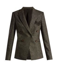 Brunello Cucinelli | Peak-Lapel Wool And Cashmere-Blend Blazer