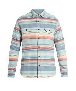 Faherty | Geometric-Striped Brushed-Cotton Shirt
