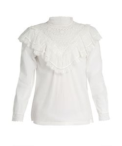 Masscob | Marais Lace-Trimmed Cotton Top