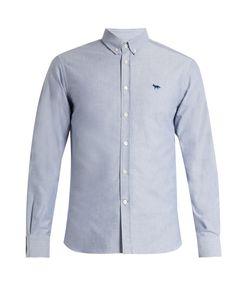 Maison Kitsune   Button-Down Cotton Shirt