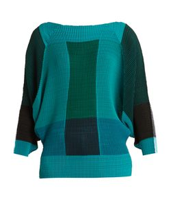 Issey Miyake | Colour-Block Pleated Top