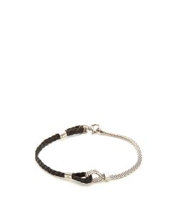 TITLE OF WORK | Leather And Sterlingbracelet