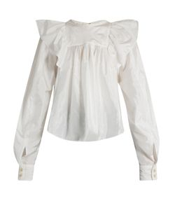 Isabel Marant | Arlington Ruffled-Shoulder Blouse