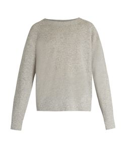 Vince | Round-Neck Cashmere And Linen-Blend Sweater