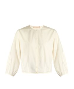 BROCK COLLECTION | Thierry Puff-Sleeved Cotton And Silk-Blend Blouse