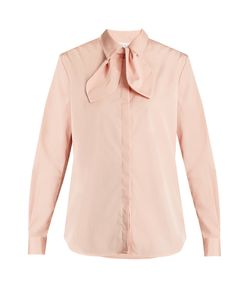 Isa Arfen | Bow Detail Cotton-Poplin Shirt