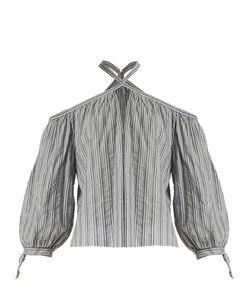 Rebecca Taylor | Striped Off-The-Shoulder Cotton Top