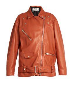 Acne | Myrtle Oversized Leather Biker Jacket
