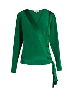 Diane Von Furstenberg | Crossover Silk Blouse