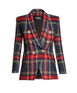 Balmain | Double-Breasted Tweed Blazer