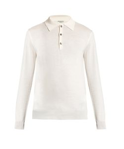 Éditions M.R | Long-Sleeved Wool Polo Shirt