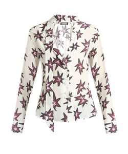 ROCKINS | Explosion-Print Silk Crepe De Chine Shirt