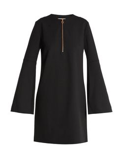 Tibi | Zip-Front Crepe Mini Dress
