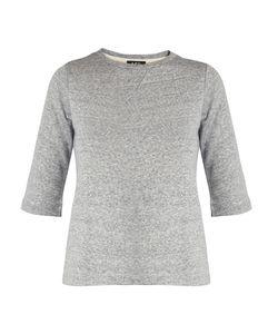 A.P.C. | Ida Short-Sleeved Cotton-Blend Sweatshirt
