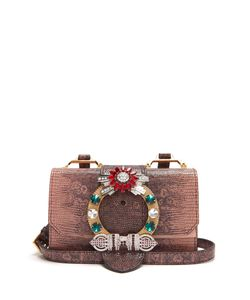 Miu Miu | Buckle-Embellished Leather Cross-Body Bag