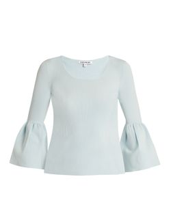 Elizabeth And James | Willetta Bell-Cuff Ribbed-Knit Top